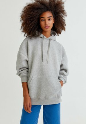OVERSIZE - Bluza z kapturem - light grey