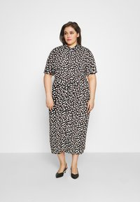 Anna Field Curvy - Day dress - black/pink/white - 1