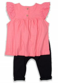 Cigit - T-SHIRT AND LEGGING SET - Collants - neon pink - 1