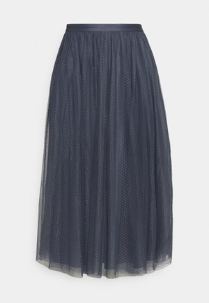 DOTTED MIDAXI SKIRT - A-Linien-Rock - vintage navy
