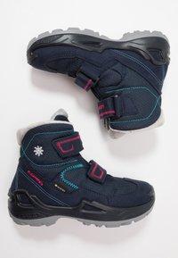 Lowa - MILO GTX MID - Winter boots - navy/magenta - 0