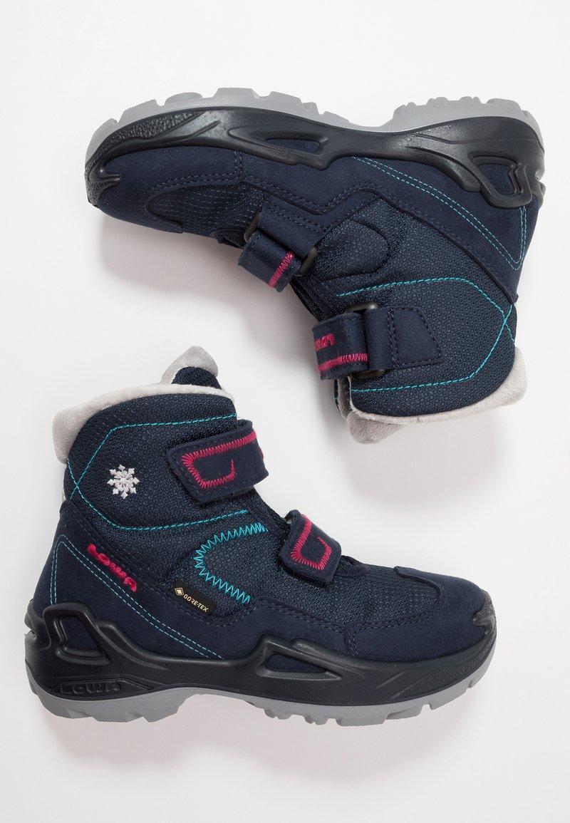 Lowa - MILO GTX MID - Winter boots - navy/magenta