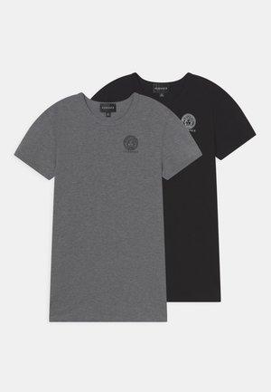 ESSENTIAL 2 PACK - Basic T-shirt - grigio/nero