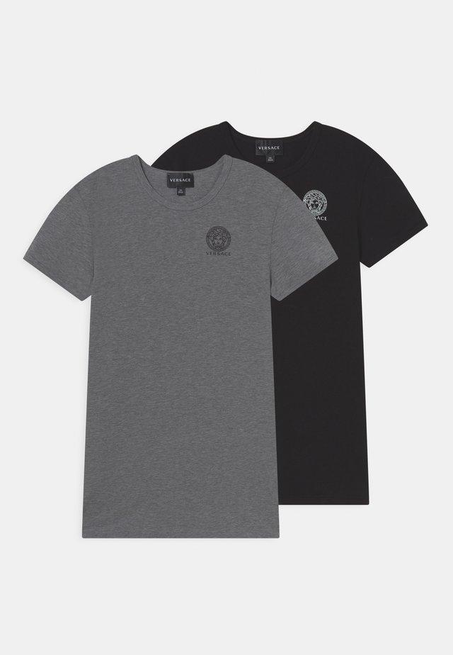 ESSENTIAL 2 PACK - T-shirt basic - grigio/nero