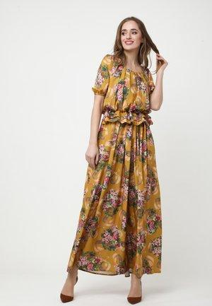 Maxi dress - senf/rosa