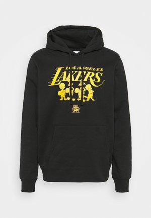 NBA LOS ANGELES LAKERS SPACE JAM 2 MONOTONE HOOD - Klubové oblečení - black