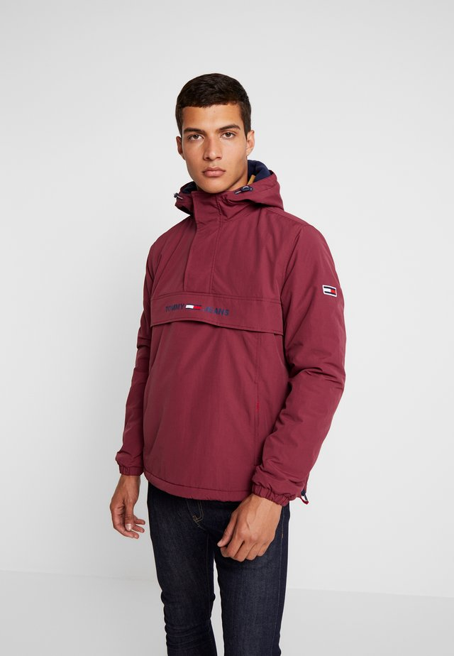 PADDED POPOVER - Light jacket - burgundy