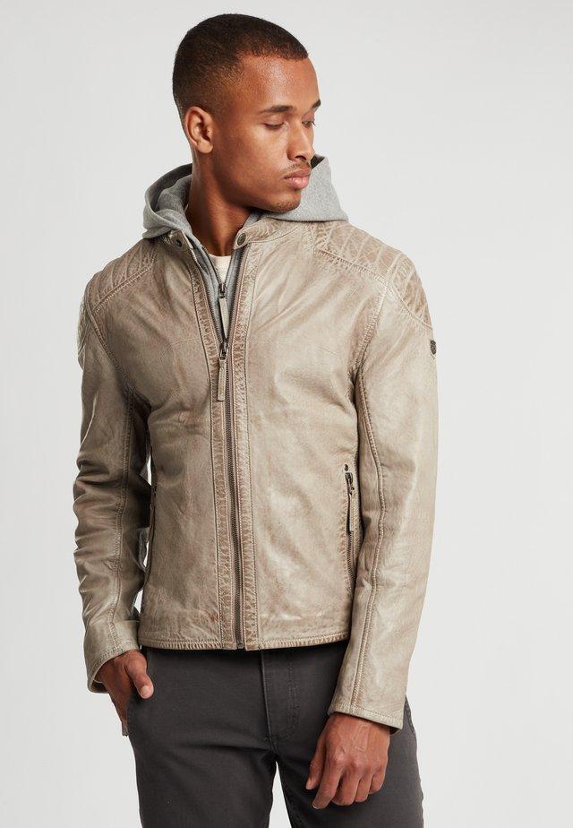 GBFLYNT NSLVV - Leather jacket - hellgr:light grey