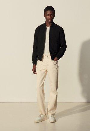 MONACO  - Kožená bunda - noir carbone