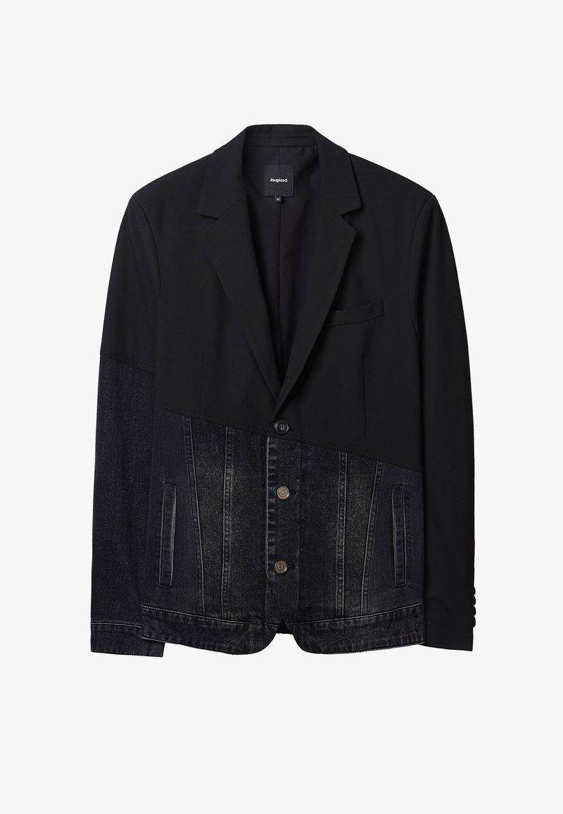 Desigual - Džínová bunda - black