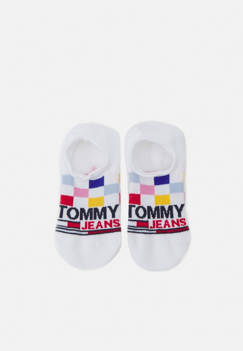 Tommy Jeans - RACERCHECK NO SHOW HIGH CUT SOCK UNISEX - Socks - white