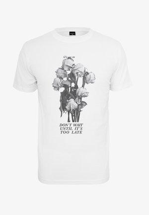 DON´T WAIT ROSE - Print T-shirt - white