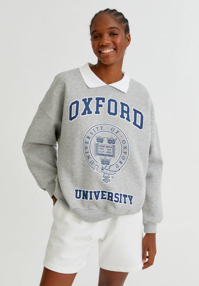 PULL&BEAR - OXFORD - Sweatshirt - grey