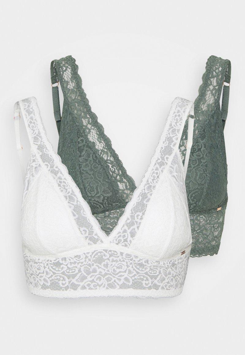 DORINA - LANA 2 PACK  - Triangle bra - green/ivory