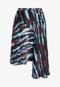 House of Holland - ASYMMETRIC TIE DIE SKIRT - A-line skirt - blue/red/multi - 3