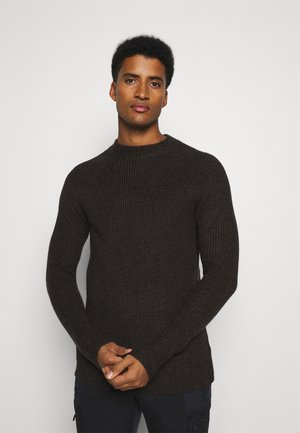 MENS HILLOCK FUNNEL NECK - Jumper - peat heather