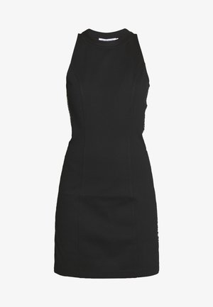 LOGO ELASTIC FITTED MILANO DRESS - Žerzejové šaty - black
