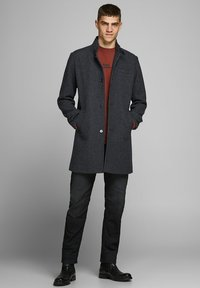 Jack & Jones PREMIUM - JPRBLAMELTON - Classic coat - dark grey melange - 1