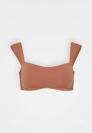 CAP SLEEVE BANDEAU - Bikini top - bronze