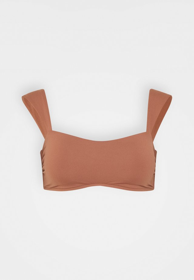 CAP SLEEVE BANDEAU - Top de bikini - bronze