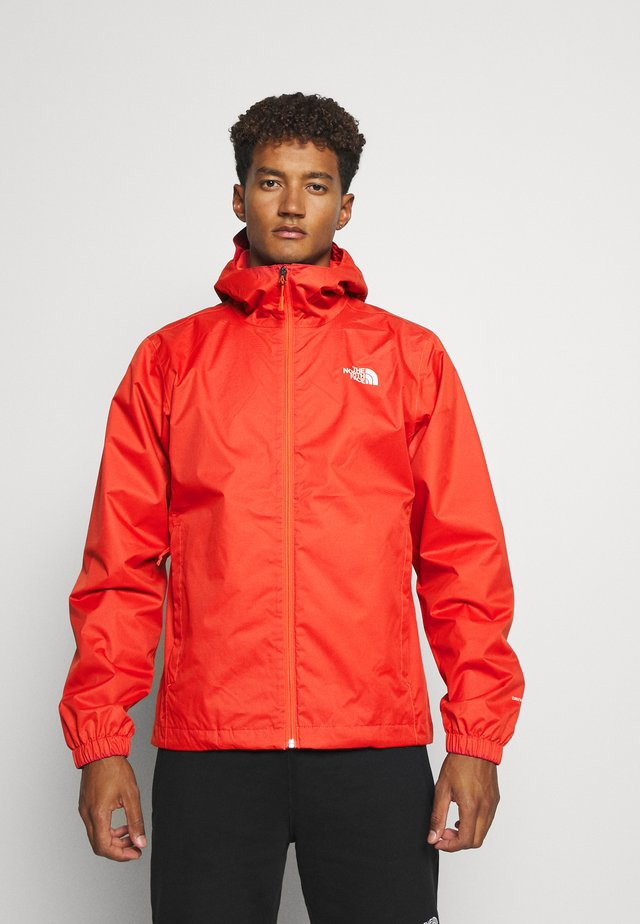 MENS QUEST JACKET - Hardshellová bunda - orange/mottled black