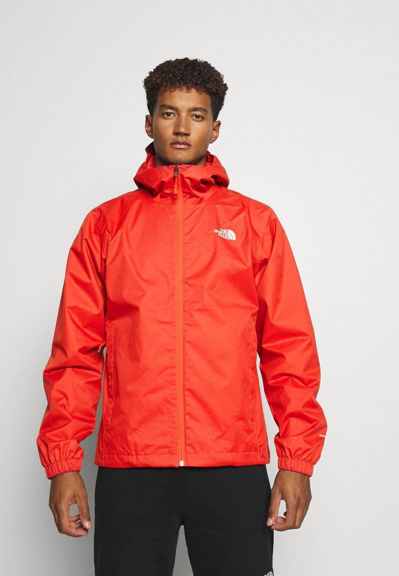 The North Face - MENS QUEST JACKET - Hardshell jacket - orange/mottled black