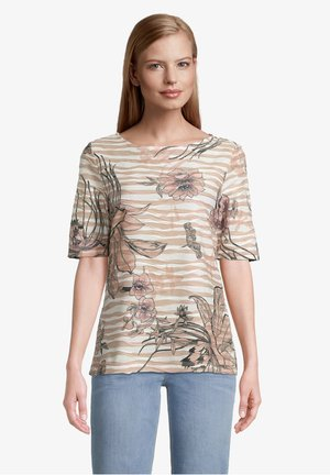 Print T-shirt - camel/rosé