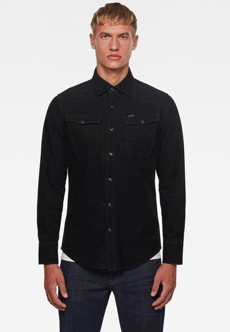 G-Star - 3301 SLIM LONG SLEEVE - Shirt - dk black gd