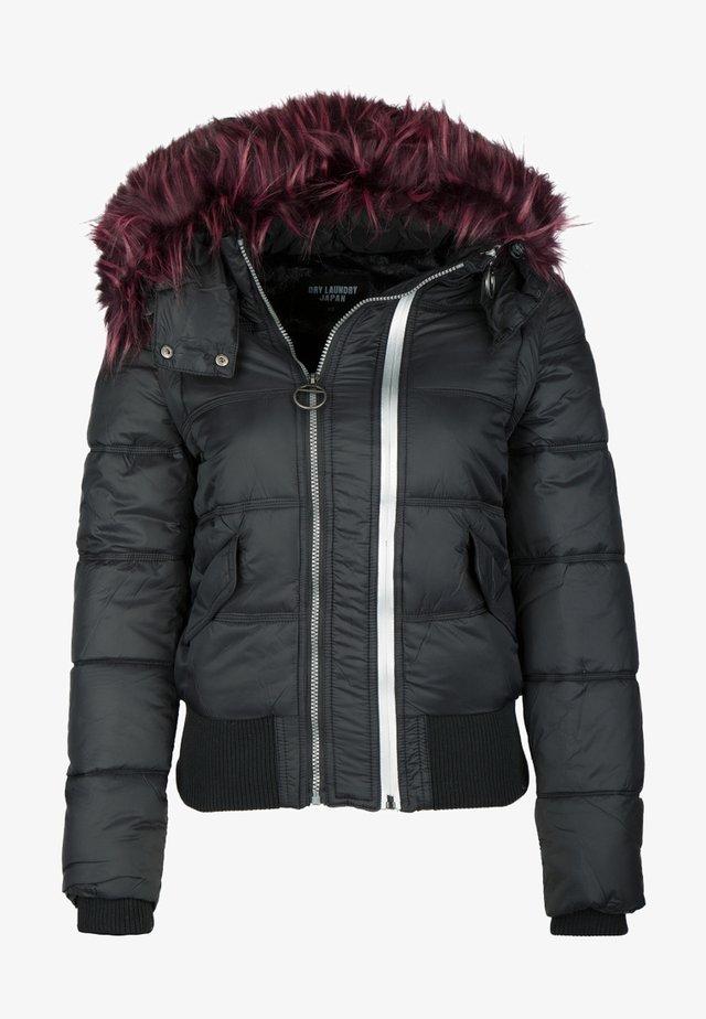 DRY LAUNDRY BLOUSON MIT ABNEHMEBARER KAPUZE - Chaqueta de invierno - black