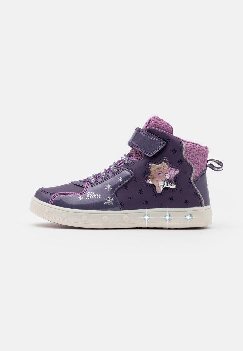 Geox - DISNEY FROZEN SKYLIN GIRL  - Vysoké tenisky - dark violet/mauve
