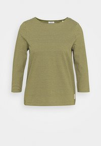 Marc O'Polo DENIM - STRIPE - Long sleeved top - olive - 0