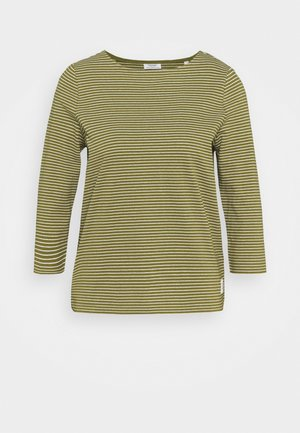 STRIPE - Long sleeved top - olive