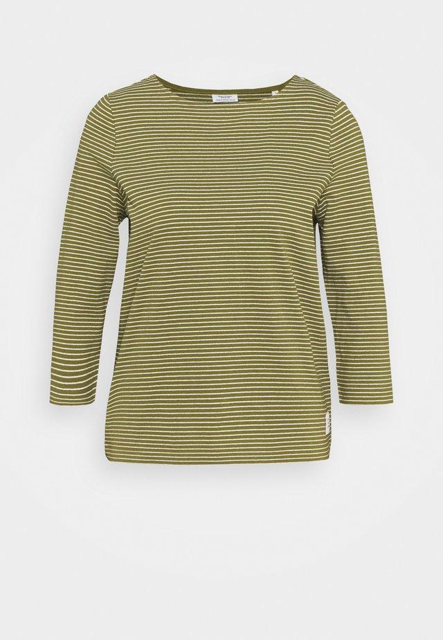 STRIPE - Maglietta a manica lunga - olive