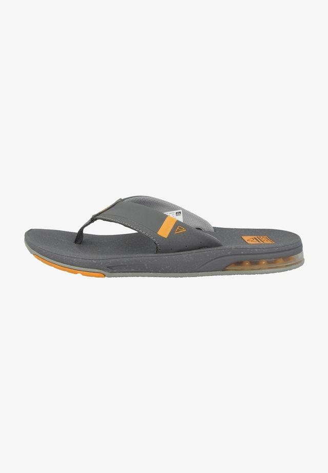 FANNING LOW - Slippers - dark grey-orange