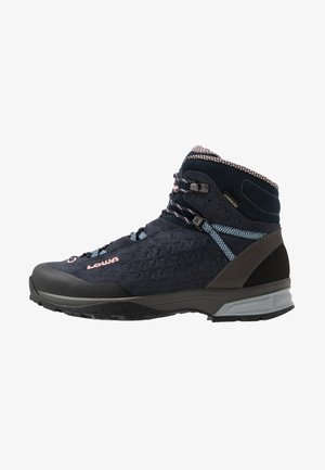 SASSA GTX MID - Hiking shoes - navy/rosé