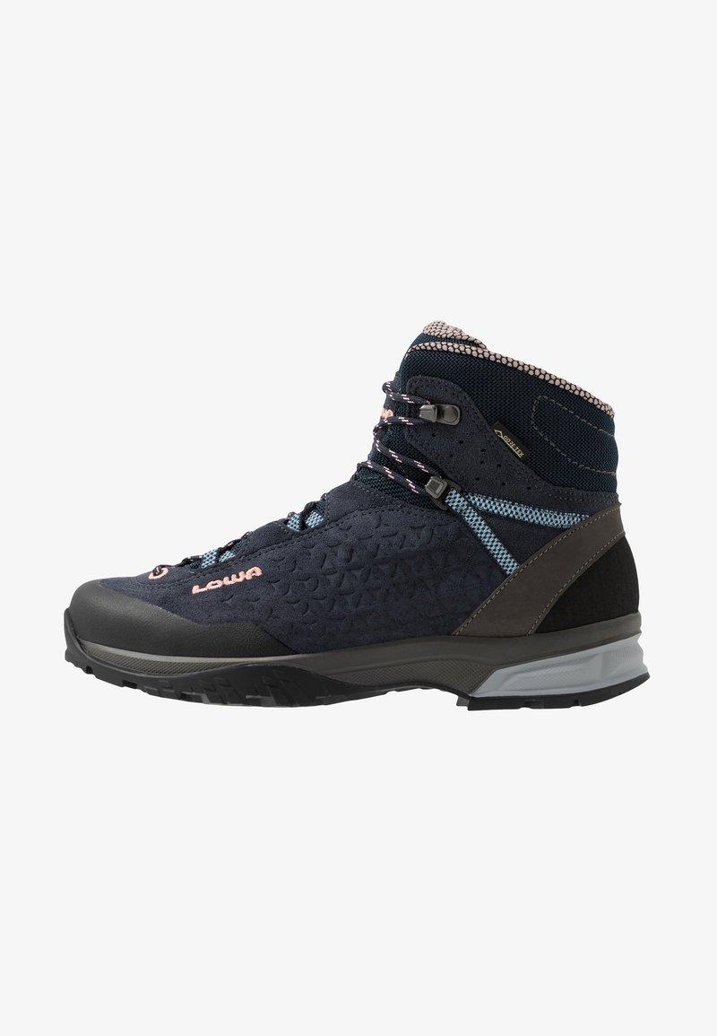 Lowa - SASSA GTX MID - Hiking shoes - navy/rosé