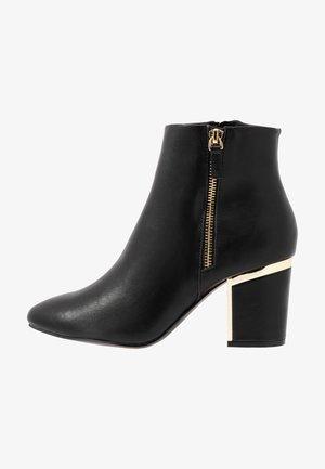 WIDE FIT ASTRID HEEL ZIP - Ankle boots - black