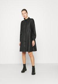 Modström - GAMAL DRESS - Robe chemise - black - 1