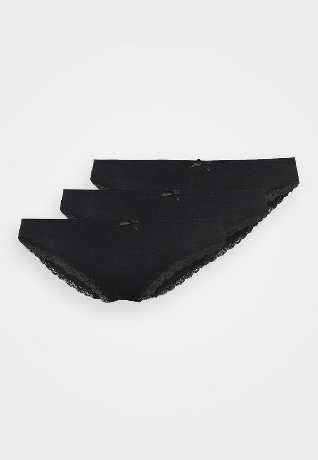 LIANNE 3 PACK - Kalhotky - black