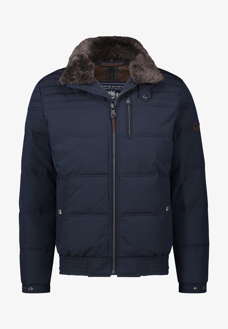 State of Art - Winter jacket - dark-blue plain
