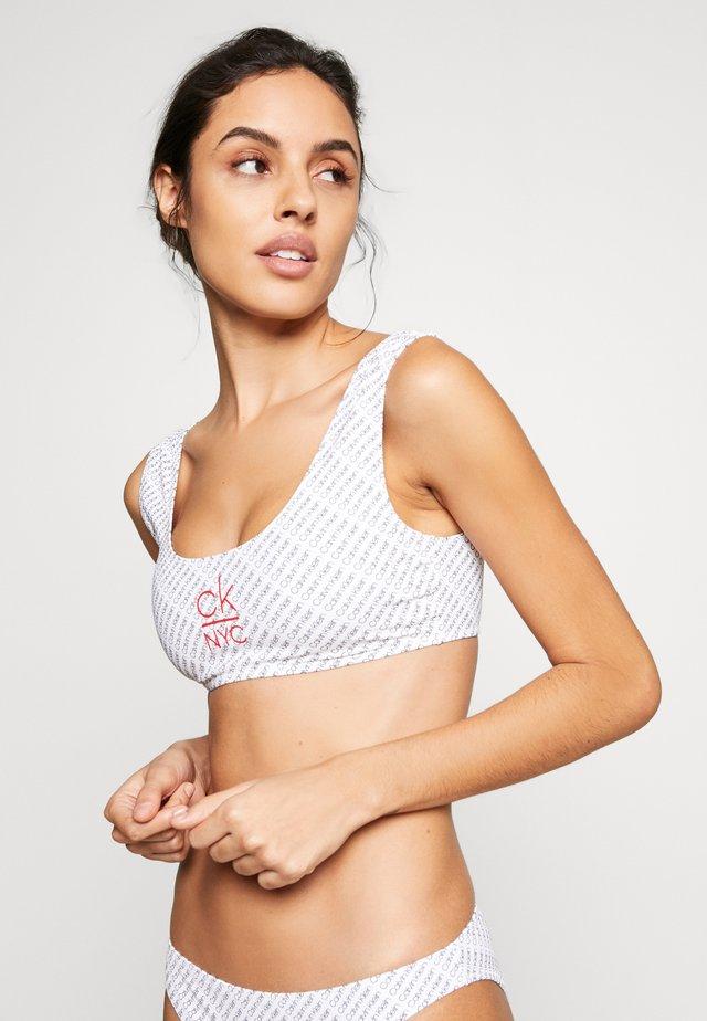 BRALETTE - Bikini top - white