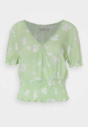SMOCKED WRAP RUFFL - Bluser - mint green