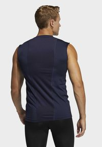 adidas Performance - TECHFIT SLEEVELESS FITTED TANK TOP - Top - blue - 1