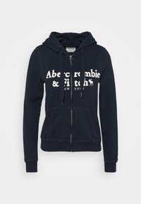 Abercrombie & Fitch - LONG LIFE FULL ZIP - Hettejakke - navy - 3