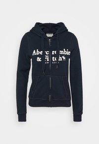 LONG LIFE FULL ZIP - Zip-up hoodie - navy