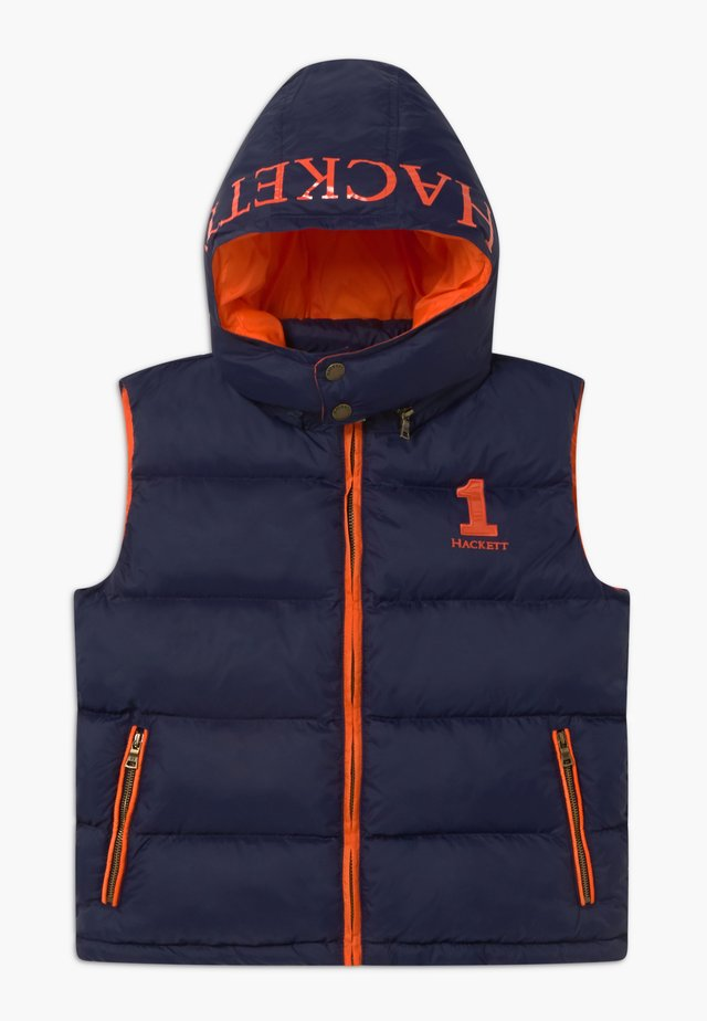 HOODED GILET - Väst - navy