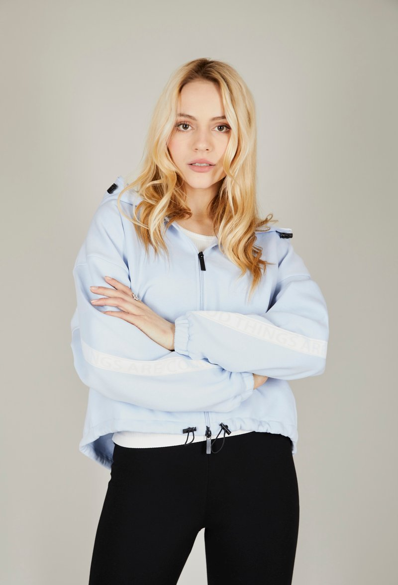one more story - BASIC  - Zip-up hoodie - arctic ice color