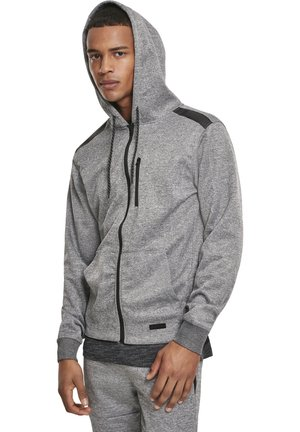 HERREN MARLED TECH FLEECE FULL ZIP HOODY - Felpa aperta - marled grey
