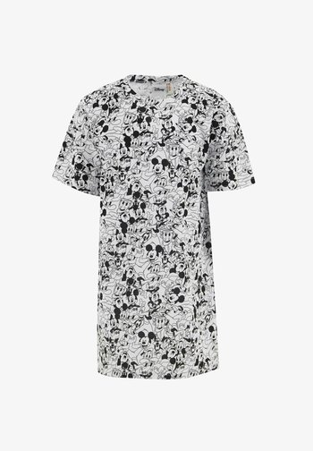 DISNEY MICKEY MOUSE - Jersey dress - white/black