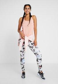 Nike Performance - DRY TANK ELASTIKA - Sports shirt - pink quartz/black - 1